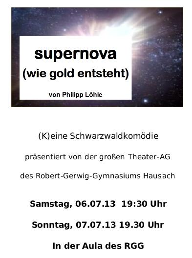 Supernova-Plakat